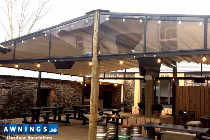 Retractable All Year Round Roof Awnings image from Awnings.ie