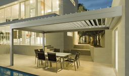 Gibus Med Twist Pergola - Front Leaning Version.