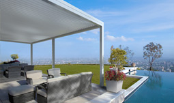 Gibus Med Twist Lateral Leaning Pergola