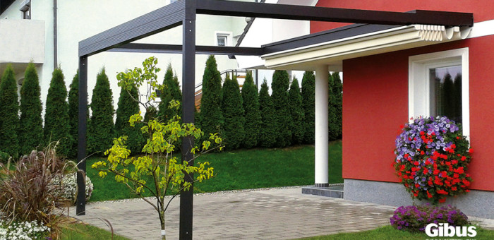 Gibus product - residential, retractable roof awning
