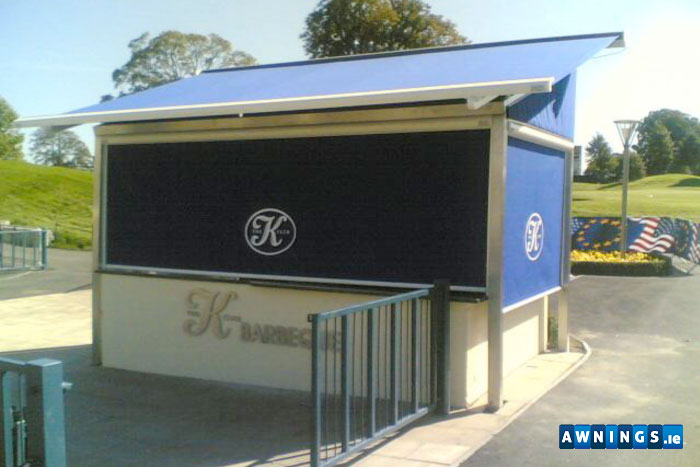 vertical awnings from awnings.ie