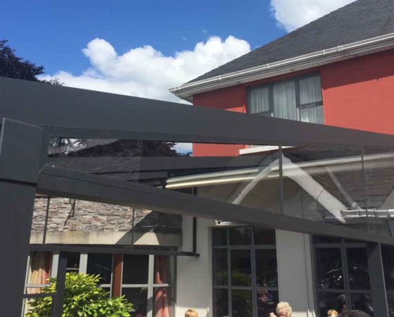 A3 Fixed triangle Side @awnings.ie