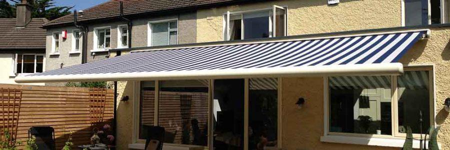 Residential installation of Gibus Box Awning – Motorized