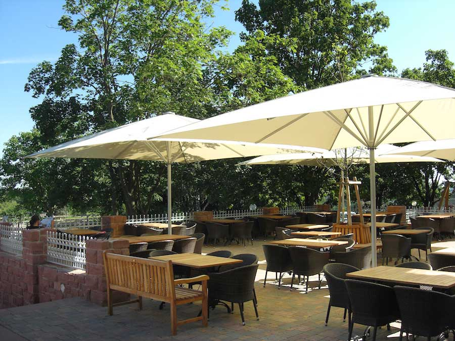 The Schattello medium commercial Parasol from Awnings.ie image